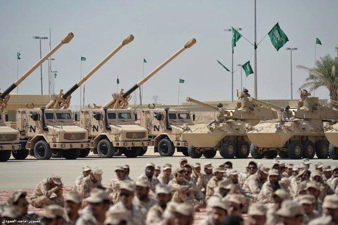 Des canons Caesar en Arabie saoudite. © DR