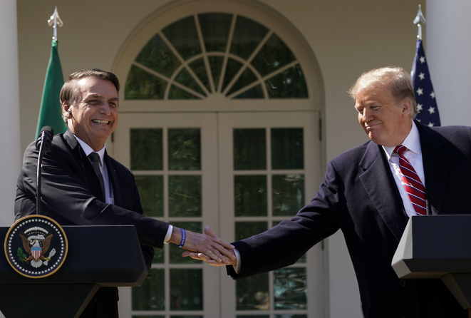 Jair Bolsonaro et Donald Trump le 19 mars © Reuters