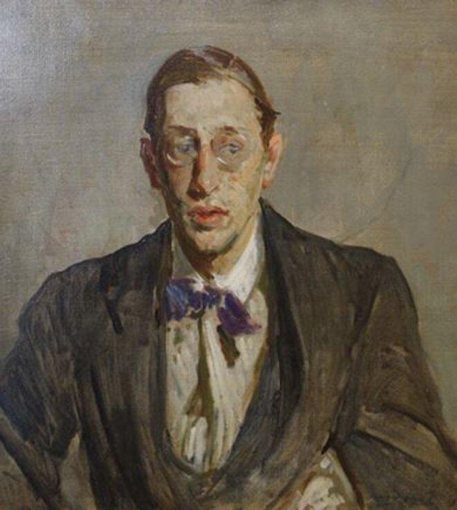 """Jacques-Émile Blanche, """"Étude pour le portrait d'Igor Stravinsky"""", 1913 (Rouen, musée des Beaux-Arts)."""