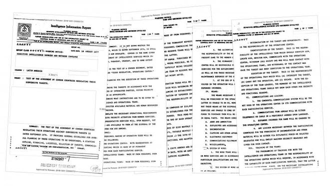 Documents déclassiffiés du Plan Condor © Pagina 12