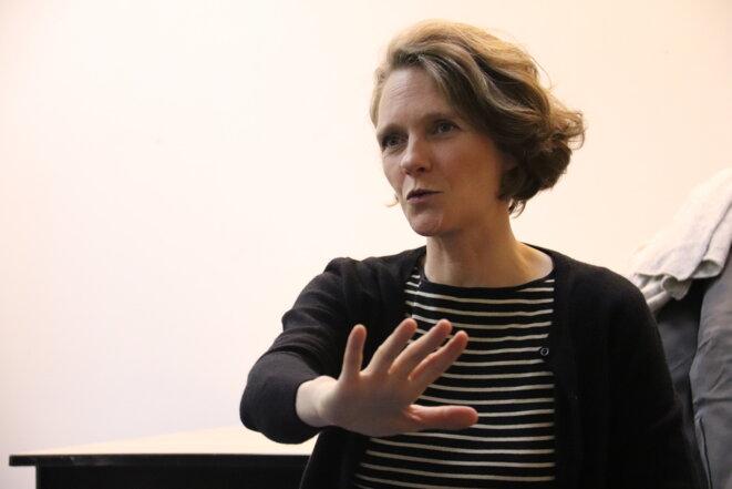 Claire Nouvian exposant les leviers d'action à développer pour préserver le monde du vivant dans son ensemble. © Axelle Bichon