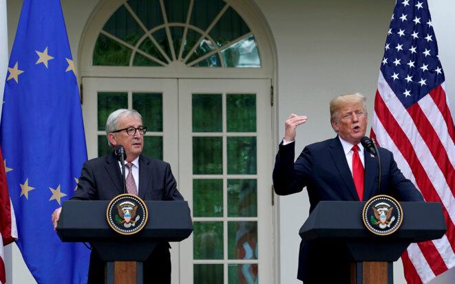 Jean-Claude Juncker et Donald Trump, le 25 juillet 2018 à Washington © Reuters / Joshua Roberts.