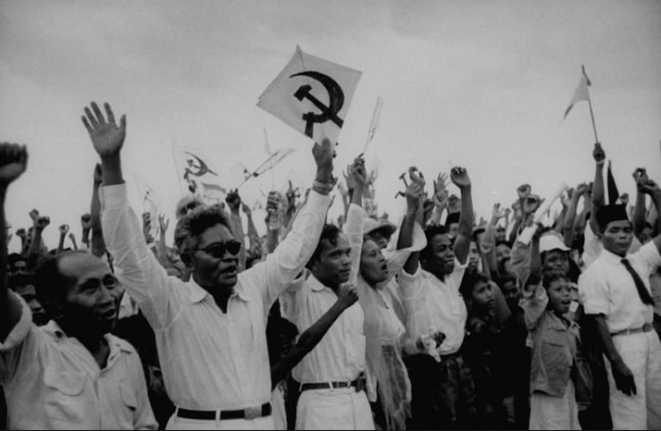 Manifestation du PKI en 1955. © dr