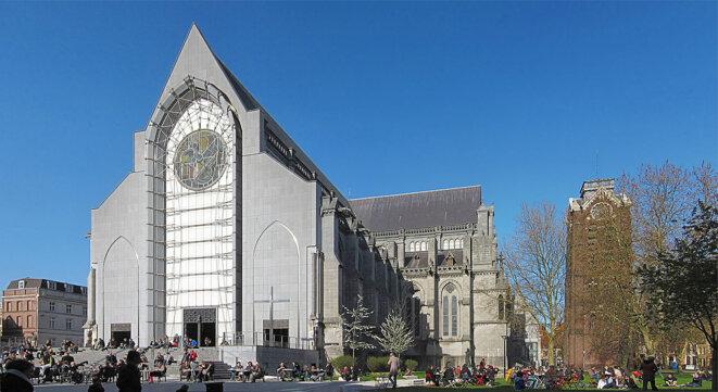 La cathédrale de Notre-Dame-de-la-Treille à Lille, en 2012.
