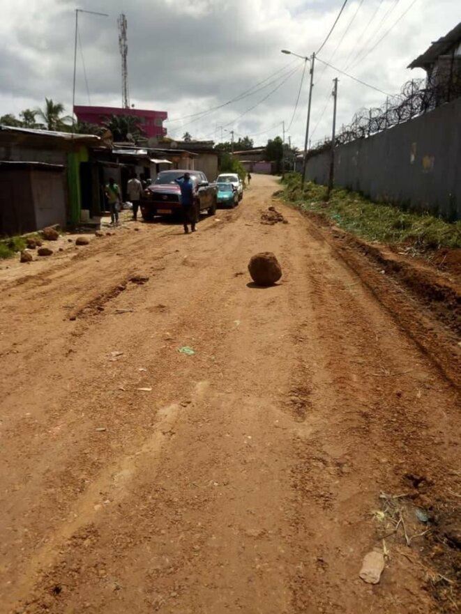 Quartier Ozougué, 5e arrondissement de Libreville-Travaux de réfection de la voie