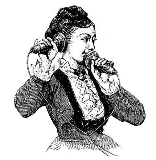 Une demoiselle du téléphone