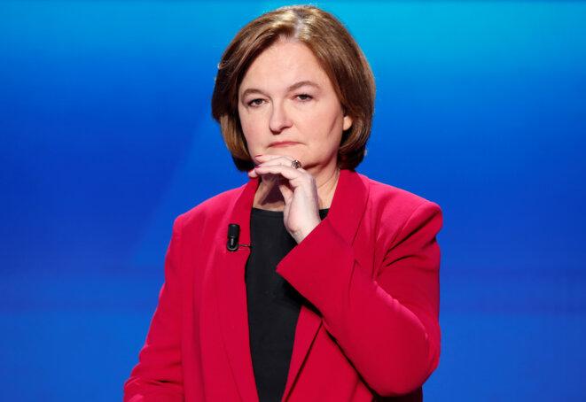 Nathalie Loiseau lors du débat des candidats aux européennes, sur France Télévisions, le 4 avril 2019. © Reuters