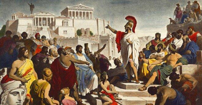 Périclès s'adressant aux Athéniens