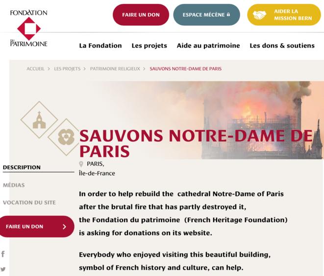 La Fondation du Patrimoine - en français dans le texte