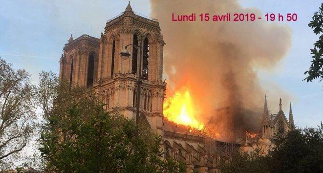 Notre-Dame de Paris le 15 avril 2019 © Pierre Reynaud