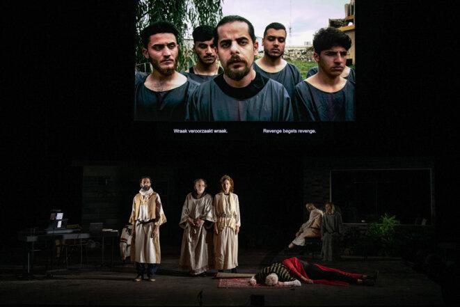 """Scène de """"Oreste à Mossoul"""" © Fred Debrock"""
