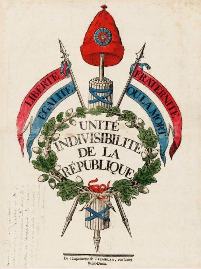 Unité indivisibilité de la République © BNF
