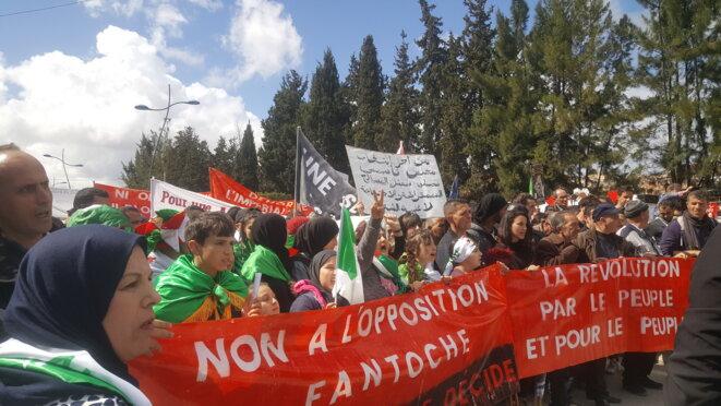Grande marche à Bejaia le vendredi 22 mars. © hamza hamouchene