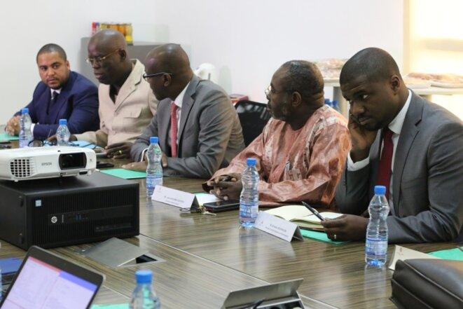 GOC-Les membres du Conseil d'administration pendant de la séance de travail.