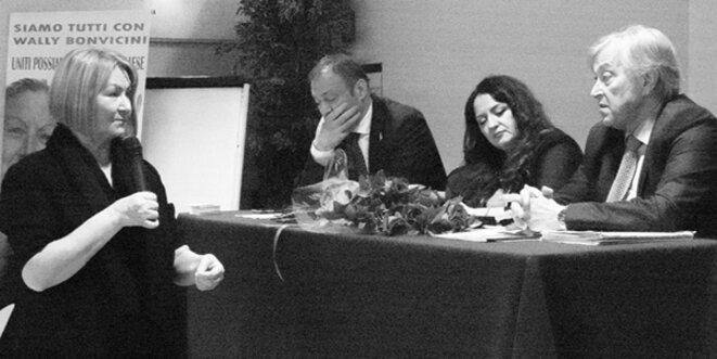 Wally Bonvicini, Oscar Lancini, Brigitte Vitale et Sergio Bramini. © privée