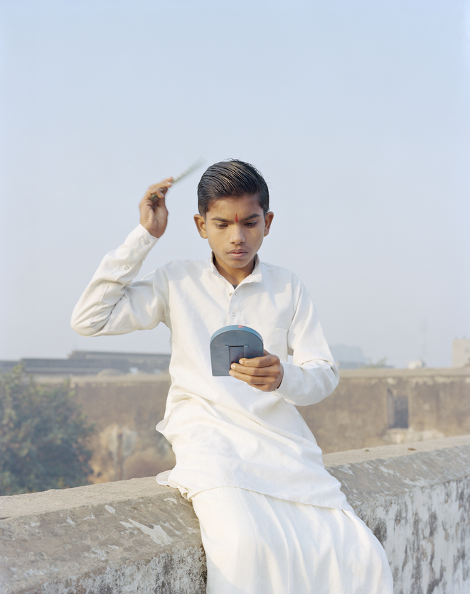 Rama Combing His Hair. © Vasantha Yogananthan / courtesy Espace JB & The Photographers' Gallery Print Sales