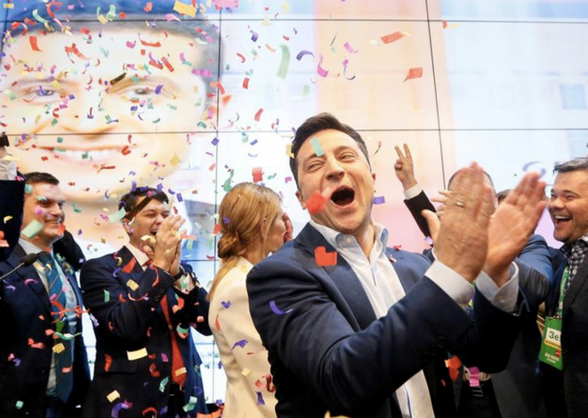 Volodymyr Zelenski, à Kiev, le 21 avril 2019. © Reuters