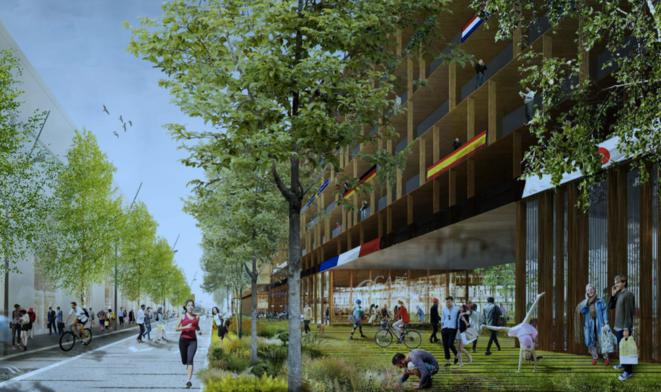 Le futur village olympique de Paris 2024, tel qu'imaginé par le maître d'ouvrage (document Solideo).