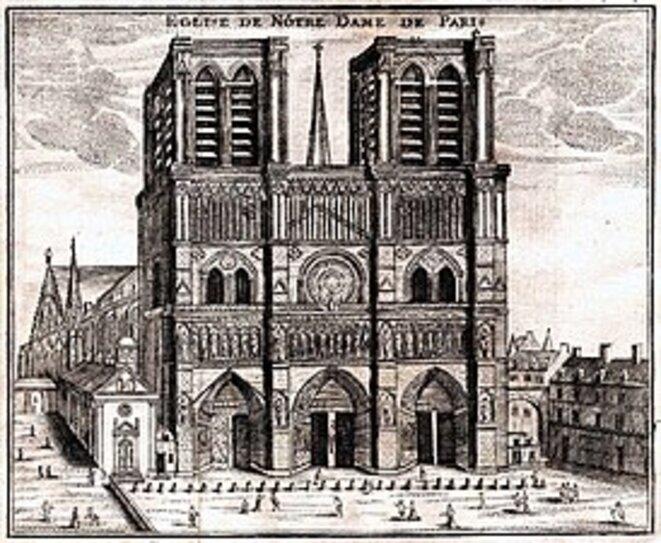 Notre Dame de Paris, gravure 1776