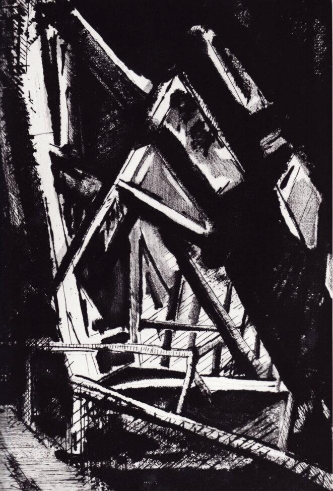 Les poutres tissent ombres et lumières © Schivo, Felix, 1924-2006