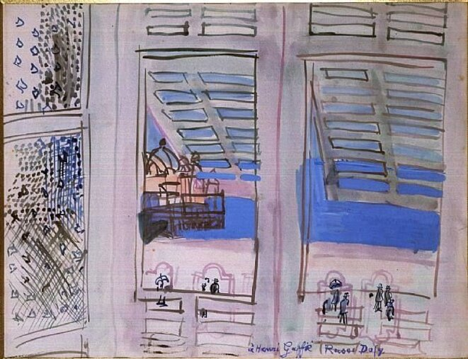 Fenêtre à Nice c. 1936 Gouache sur papier, 50 x 65cm Collection privée, France