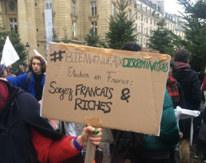 The plan to hike fees led to student protests through the winter, like this one close to the Sorbonne. © FZ