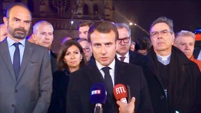 Emmanuel Macron le 15/04/2019 (Capture d'écran) © @ RM