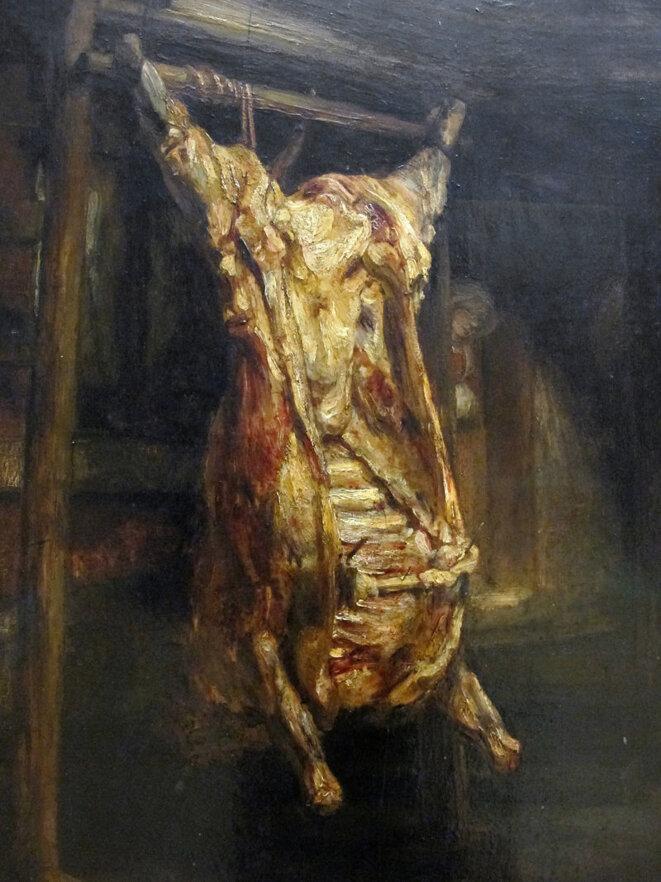 """Rembrandt, """"Le Boeuf écorché"""", 1655"""