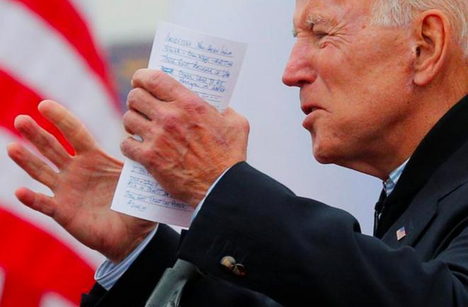 Joe Biden, le 18 avril 2019 à Boston, lors d'une manifestation de soutien à des grévistes. Biden, 76 ans, est candidat à la Maison Blanche pour la troisième fois. © Reuters