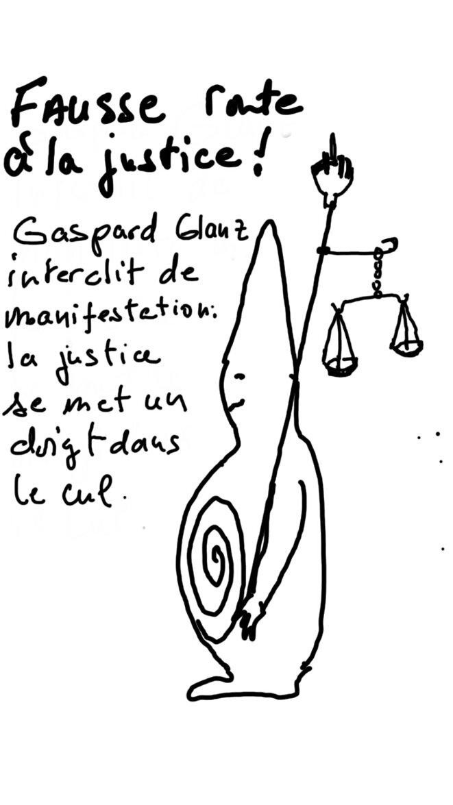 Gaspard Glanz interdit de manifestation