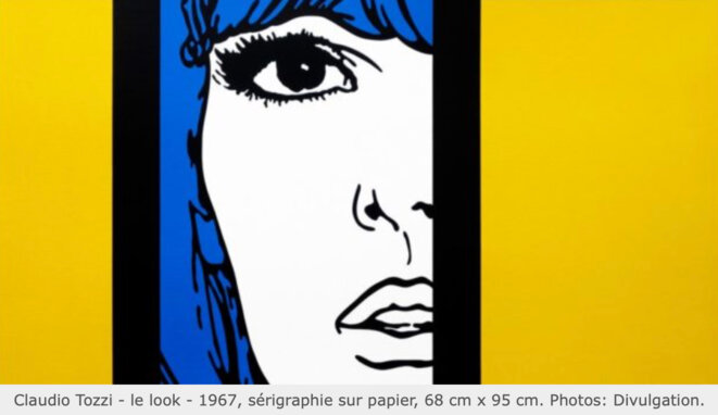 Le Look, Claudio Tozzi, 1967, sérigraphie sur papier © Divulgation