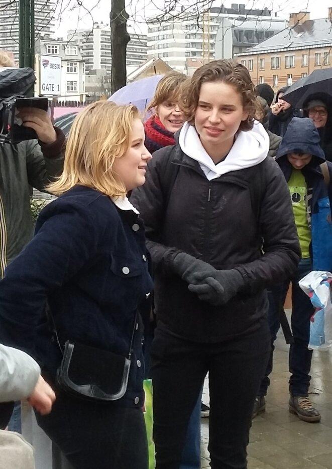 Anuna De Wever et Kyria Gantois, à l'origine du mouvement Youth for Climate en Belgique © Benedict Wydooghe [CC BY-SA 4.0