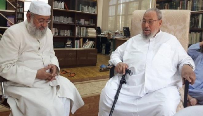 Qaradawi avec Abderrahman Nadaoui
