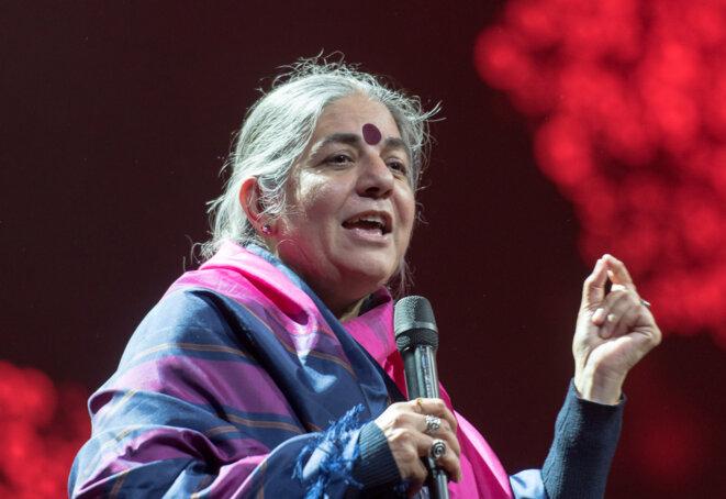 L'Indienne Vandana Shiva est l'une des figures de proue du mouvement écoféministe © Frank Schwichtenberg [CC BY-SA 4.0
