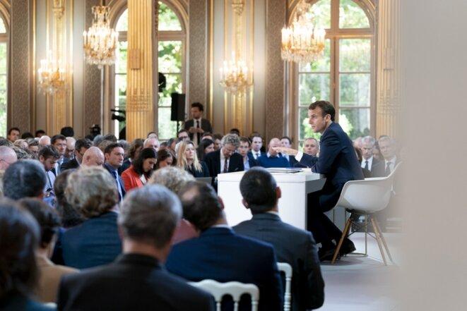 Conférence de presse d'Emmanuel Macron le 25 avril 2019 [Photo site de l'Elysée]