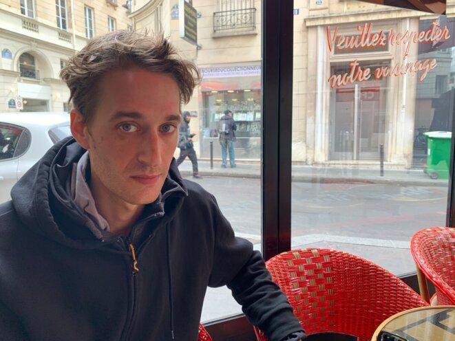 Gaspard Glanz le vendredi 26 avril à Paris. © DR