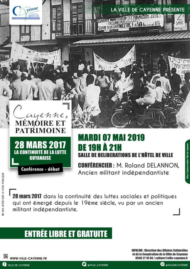 Affiche événementielle de la mairie de Cayenne.