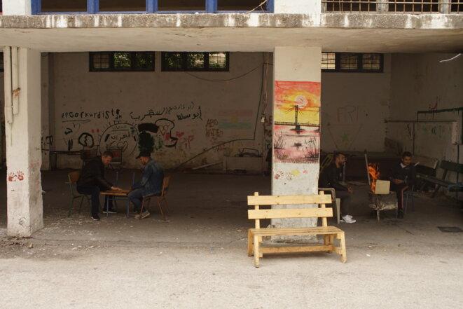 Dans un squat du quartier athénien d'Exarcheia, occupé par des réfugiés. © Amélie Poinssot