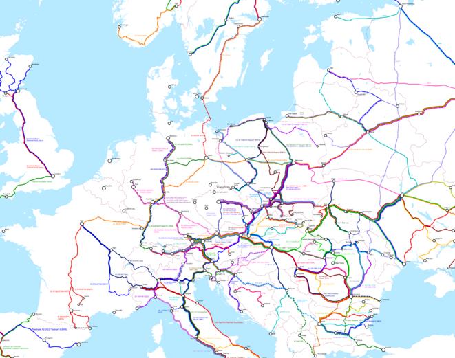 Carte Ferroviaire Deurope.Nous Voulons Voyager En Train A Travers L Europe Un Projet