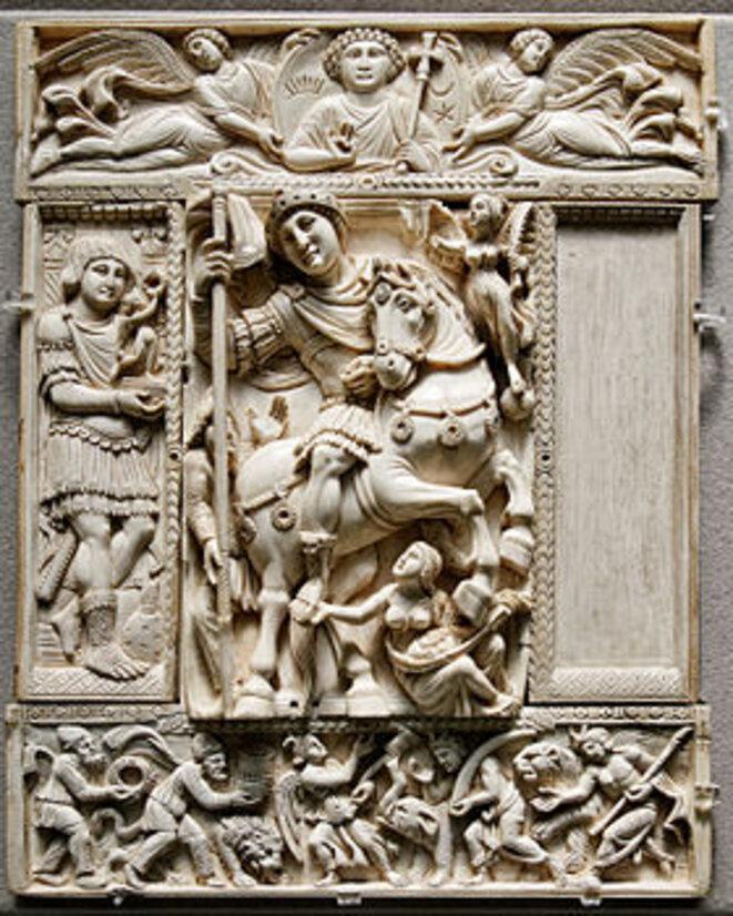 Le diptyque Barberini, VIe siècle, Byzance. Musée du Louvre, Paris