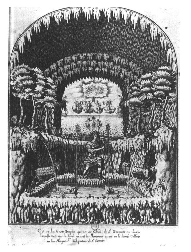La Grotte d'Orphée, Saint-Fermain-en-Laye, gravure Abraham Bosse, 1624