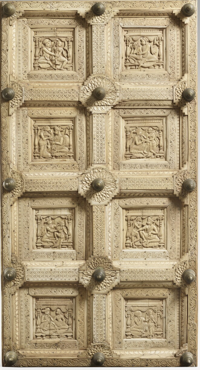 Ivory door, gift Al Thani, Musée Guimet, Paris