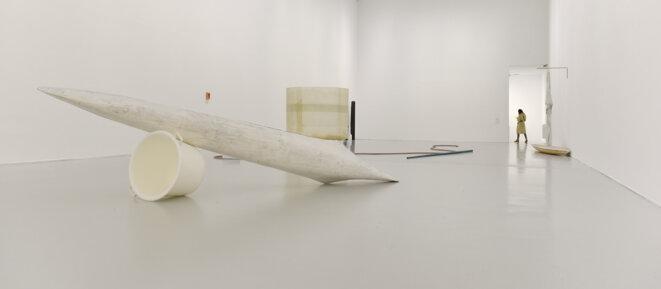 Vue de l'exposition « Gyan Panchal, Au seuil de soi »  au Musée d'art moderne et contemporain de Saint-Étienne Métropole, 20 mars – 22 septembre 2019 © ADAGP, Paris 2019; Photo: Charlotte Piérot