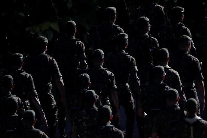 Un desfile militar conmemora el aniversario del golpe de Estado de 1964 en Brasilia, el 29 de marzo de 2019. © Reuters