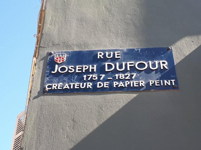 Plaque rue Dufour à Mâcon