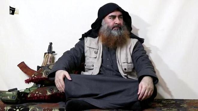 Abou Bakr al-Baghdadi en el vídeo difundido el 29 de abril de 2019. © Al Furqan Media Network