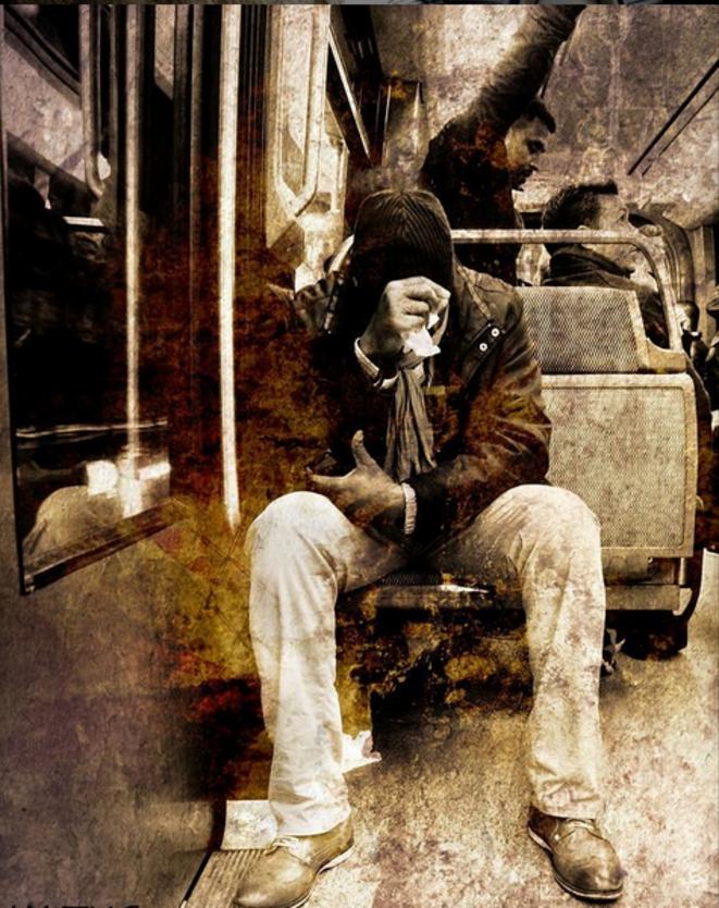 Dans le métro : cerveau masculin extrême © Luna TMG