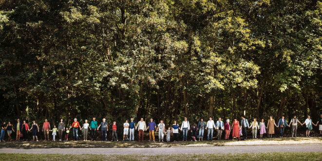 Mobilisation citoyenne Forêt de Romainville © Julien Daniel / Agence MYOP