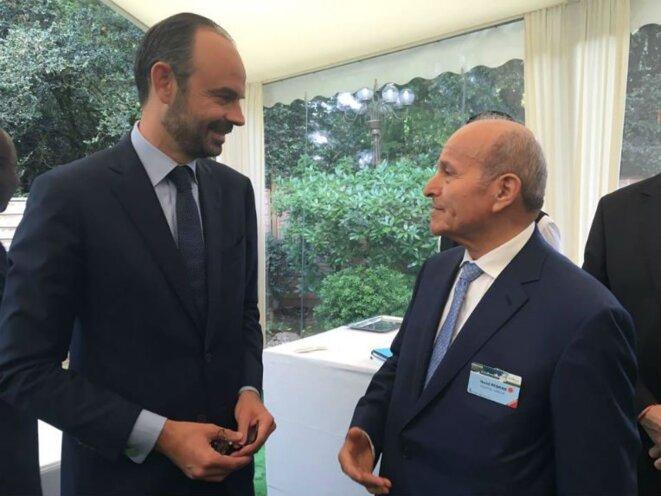 Issad Rebrab ici avec le premier ministre français Edouard Philippe