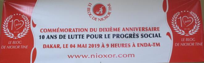 Banderole du dixième anniversaire du blog de Nioxor Tine © Nioxor Tine